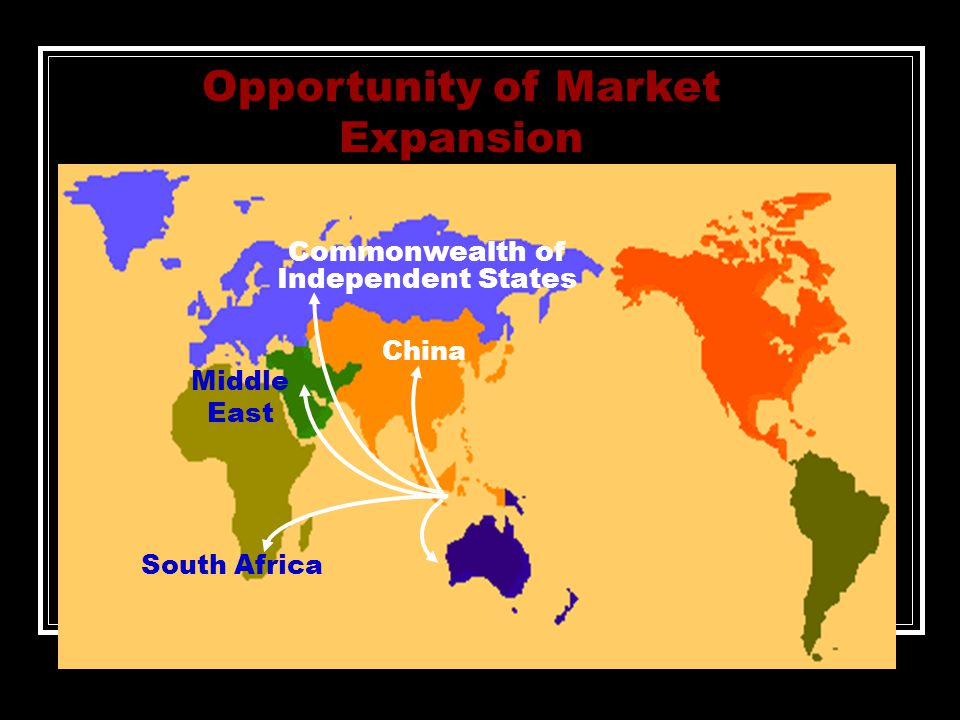 Commonwealth of Independent States Middle East South Africa Opportunity of Market Expansion China