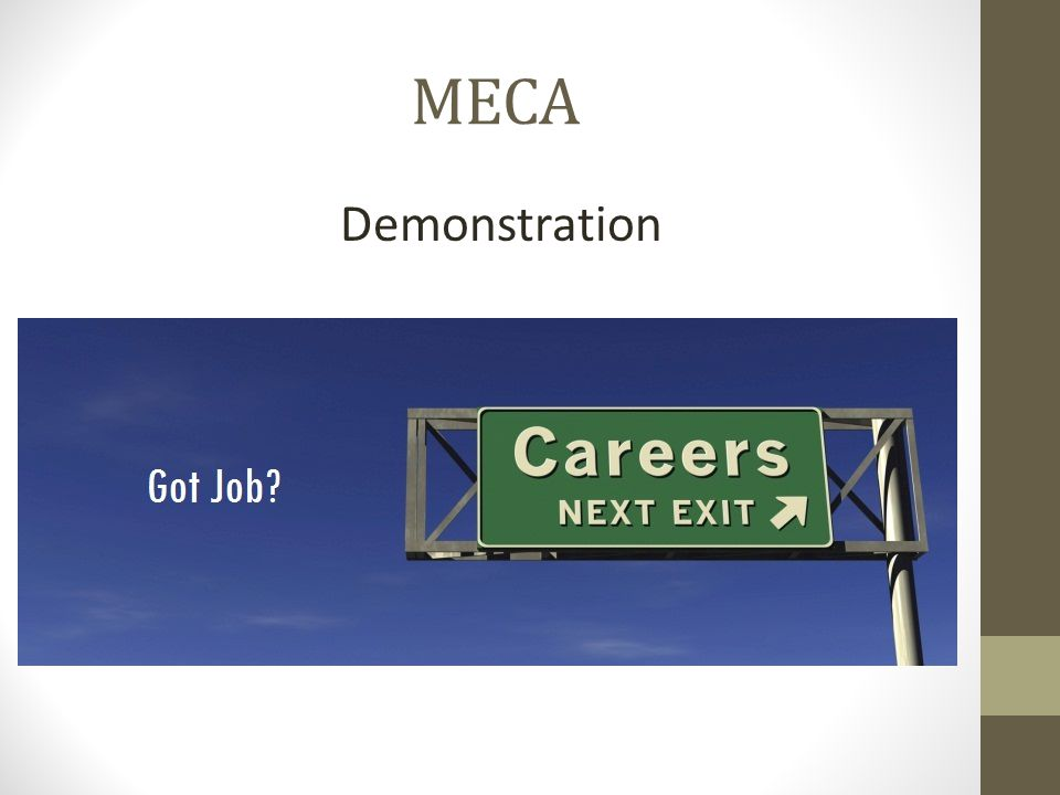 MECA Demonstration