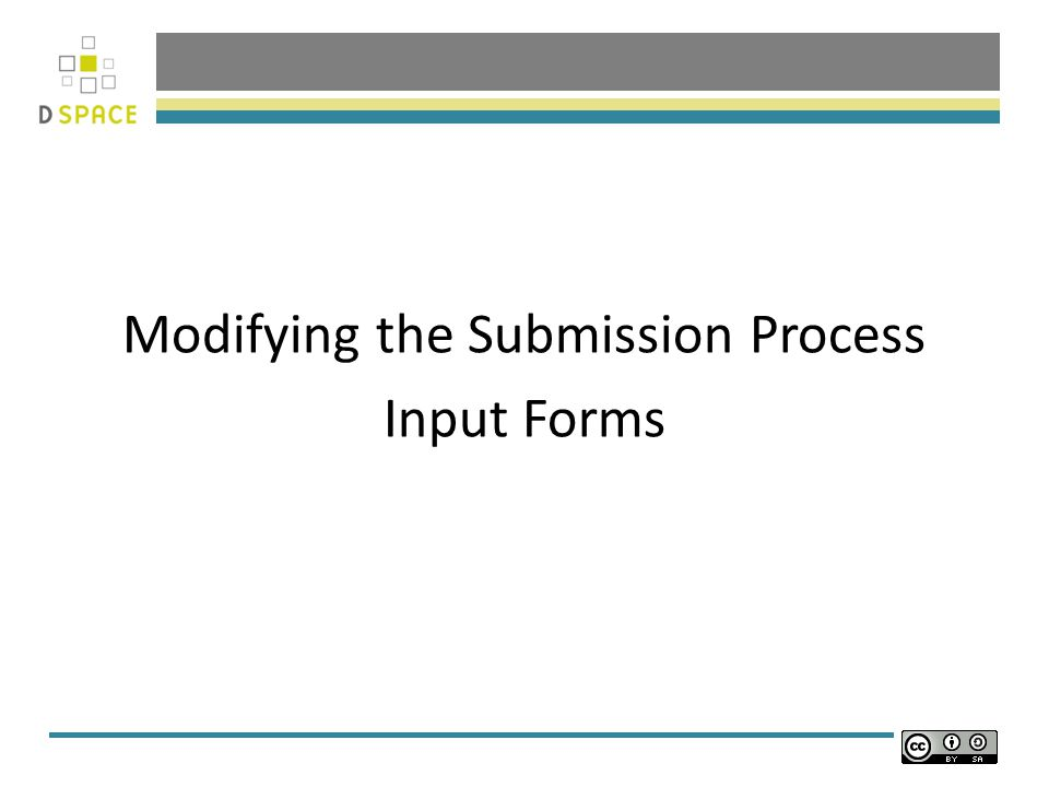 Modifying the Submission Process Input Forms