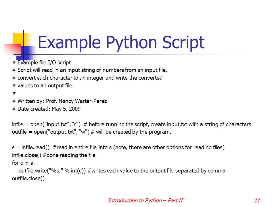 File I/O Dr  Nancy Warter-Perez  Introduction to Python