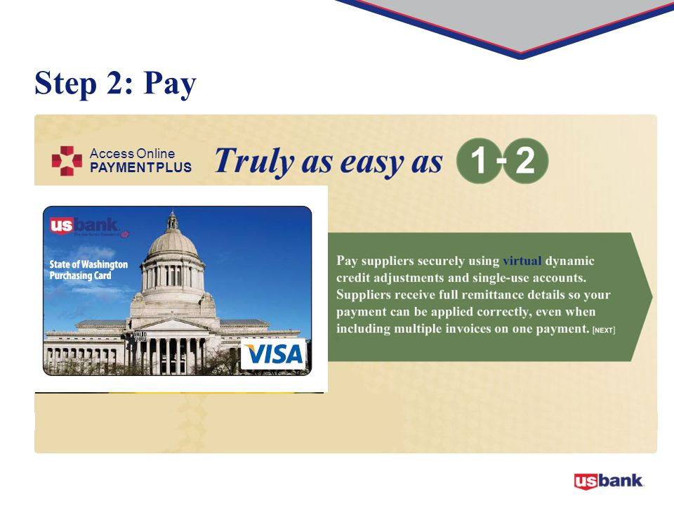 Step 2: Pay Access Online PAYMENT PLUS