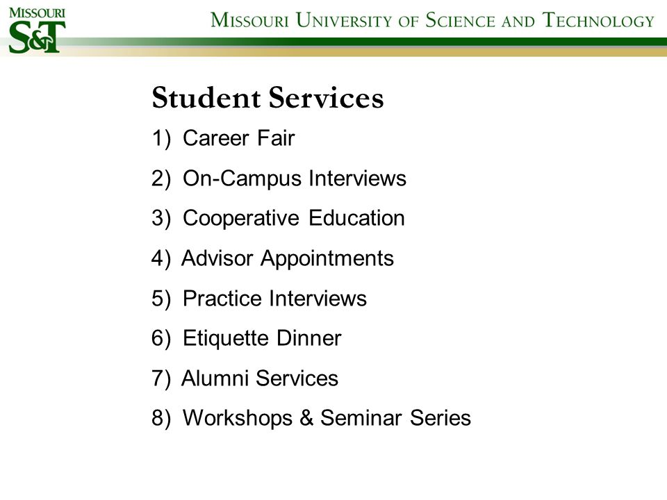 Career Opportunities and Employer Relations career mst edu