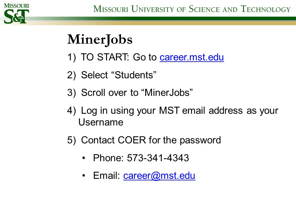 Career Opportunities And Employer Relations Careermstedu 573