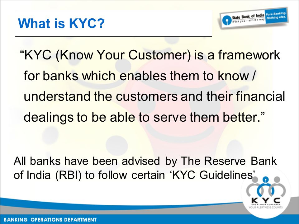 What is KYC.