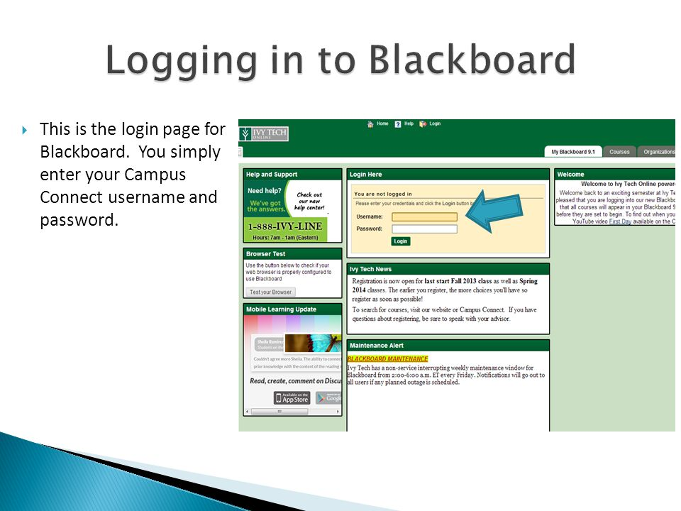  This is the login page for Blackboard.