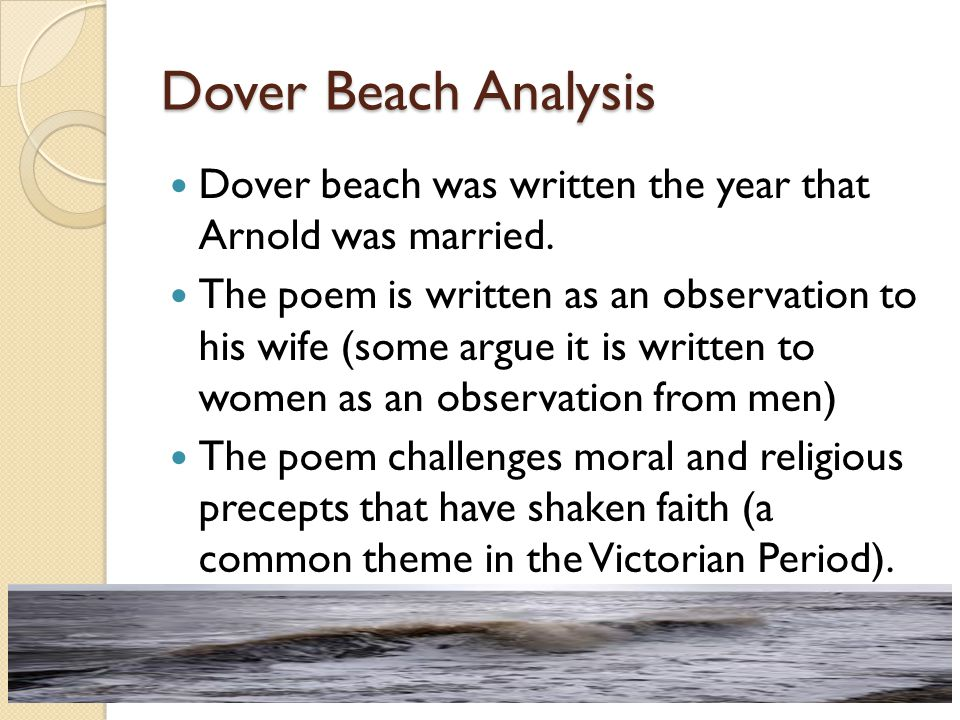 what is the main idea of the poem dover beach