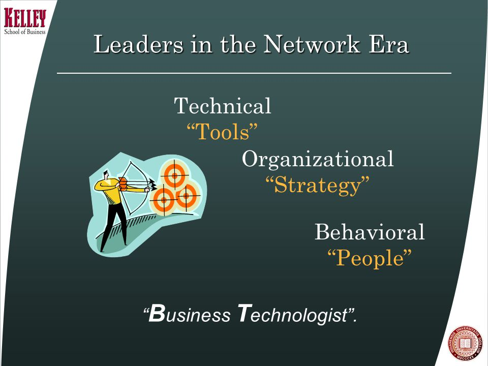 Leaders in the Network Era Behavioral People Technical Tools B usiness T echnologist .