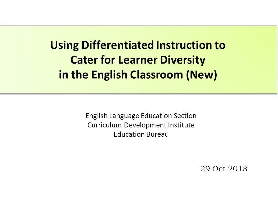English Language Education Section Curriculum Development Institute