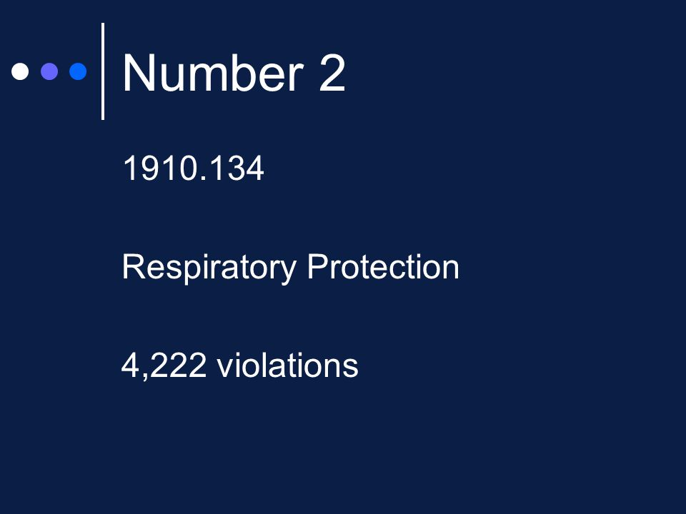 Number Respiratory Protection 4,222 violations