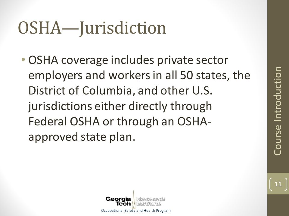 Occupational Safety and Health Program OSHA Compliance for
