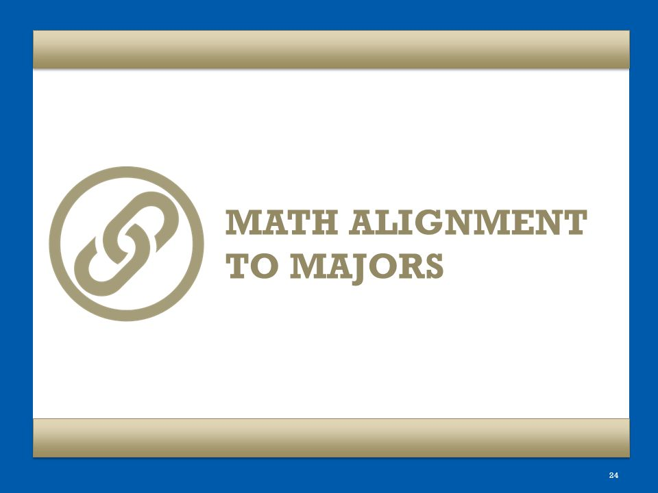 24 MATH ALIGNMENT TO MAJORS