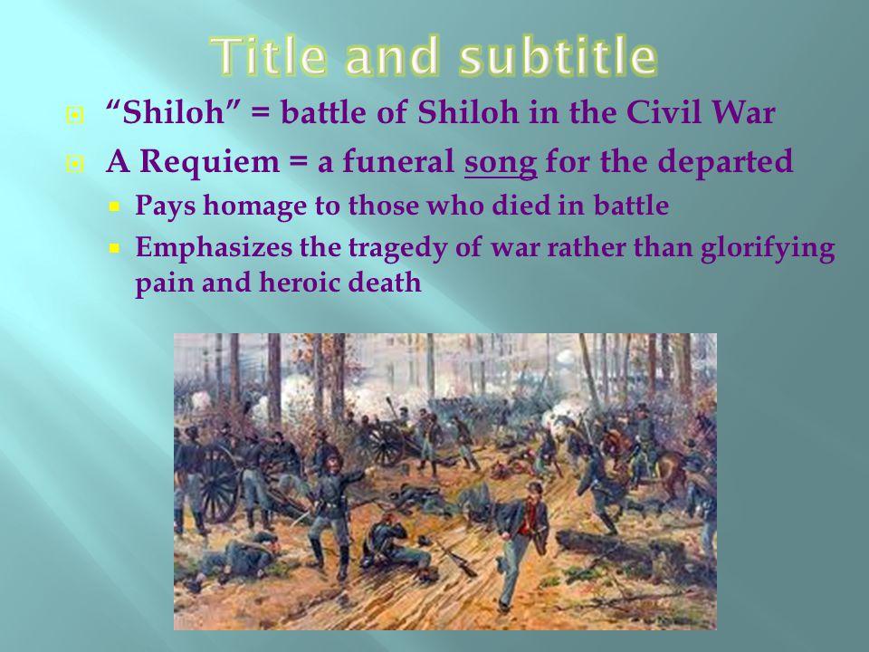 battle of shiloh poem