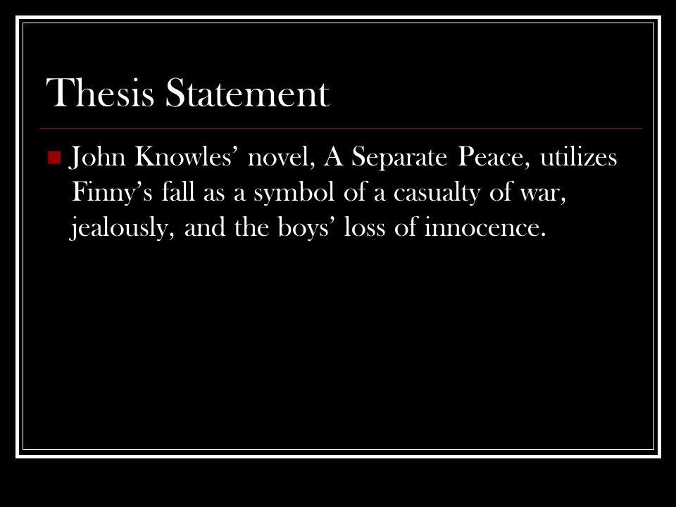 a separate peace war essay