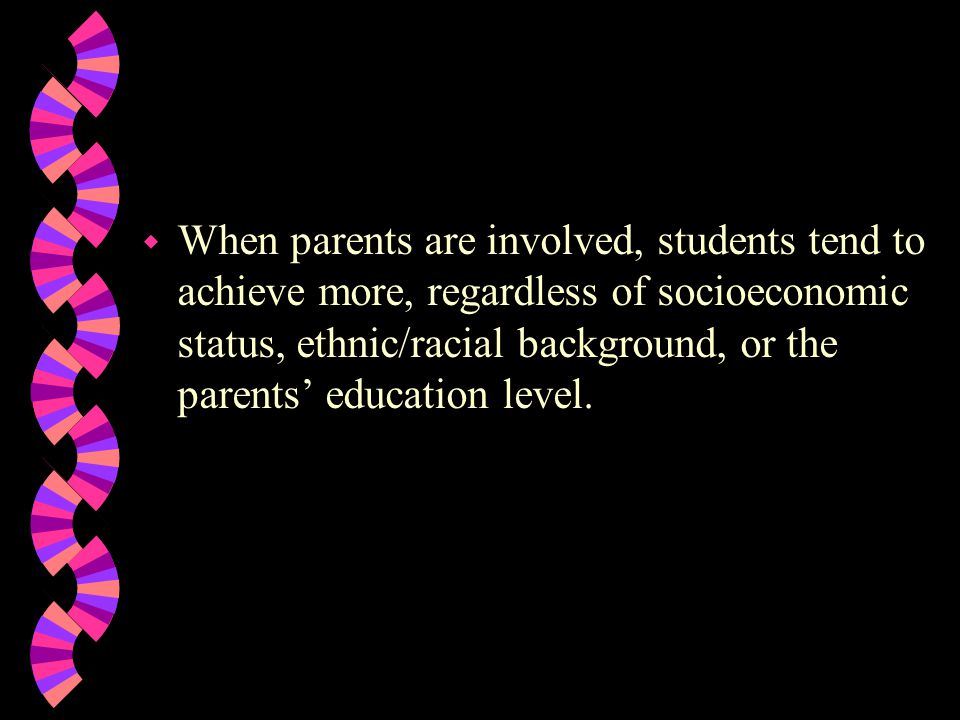 Why is parental involvement needed Research tells us...