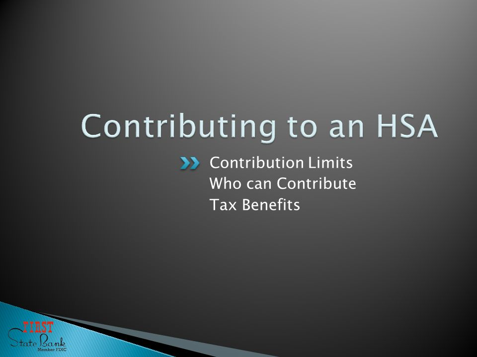 Contribution Limits Who can Contribute Tax Benefits