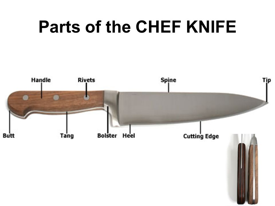 Parts of the CHEF KNIFE