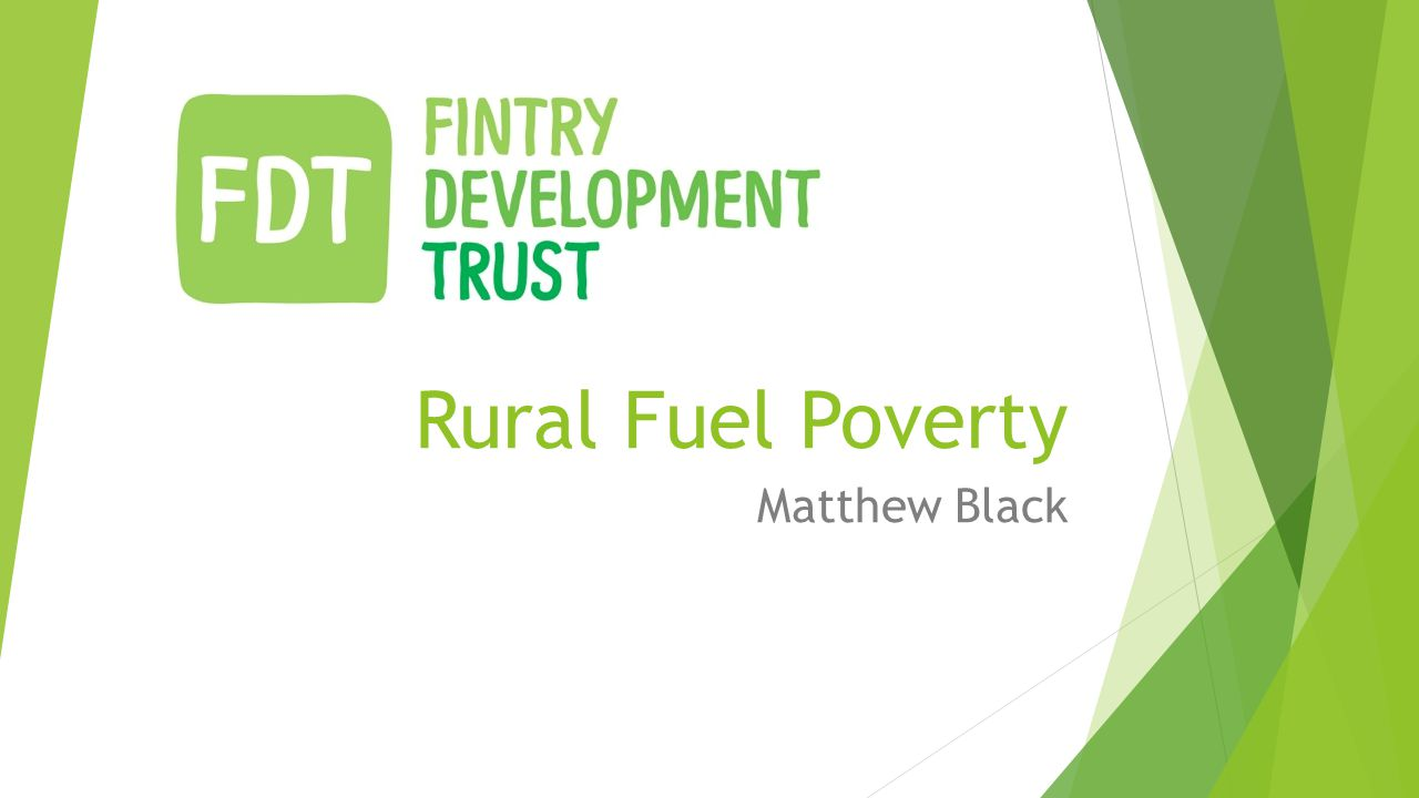 Rural Fuel Poverty Matthew Black