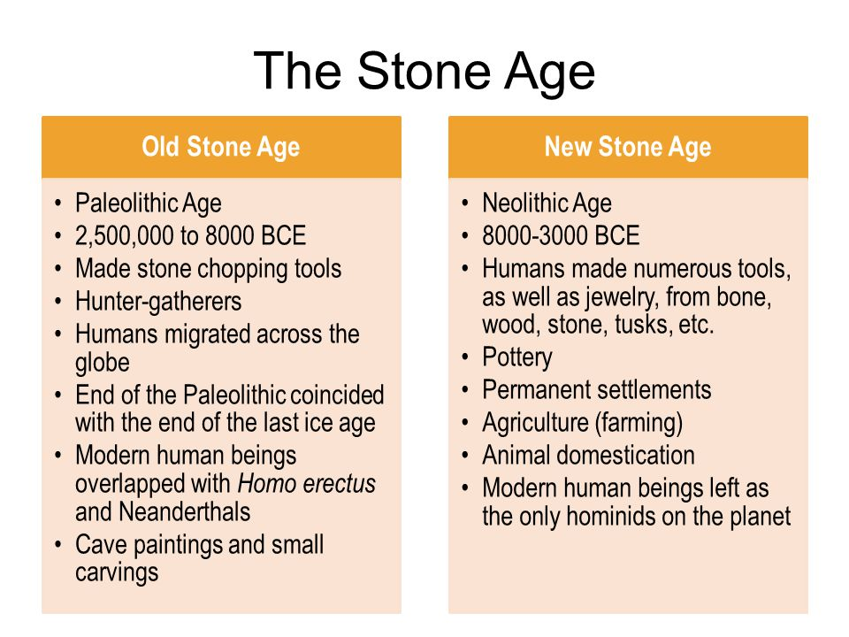 difference between paleolithic and neolithic age