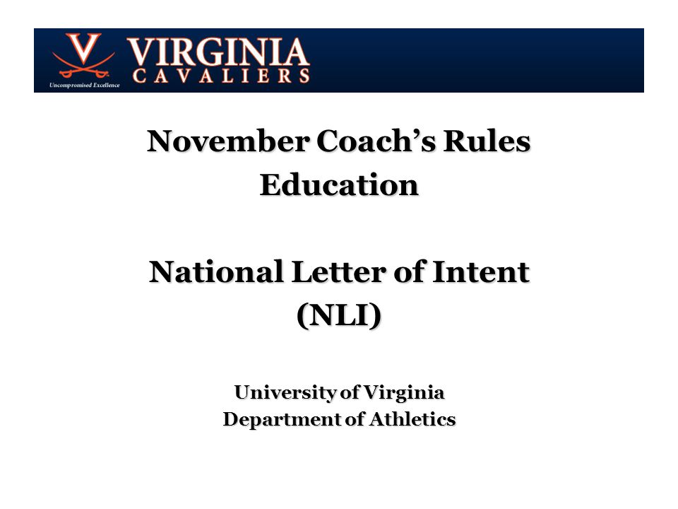 November Coach\'s Rules Education National Letter of Intent (NLI ...