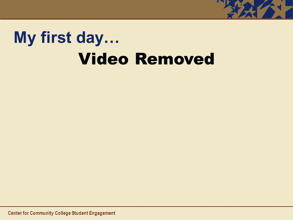 My first day… Video Removed