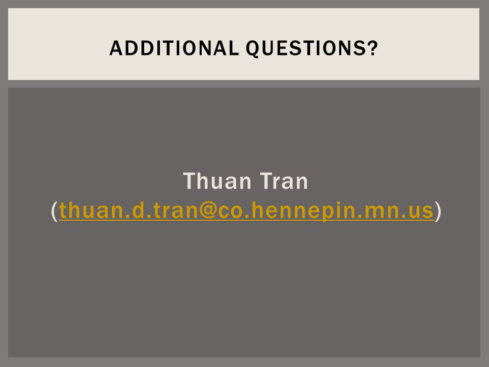 Thuan Tran ADDITIONAL QUESTIONS