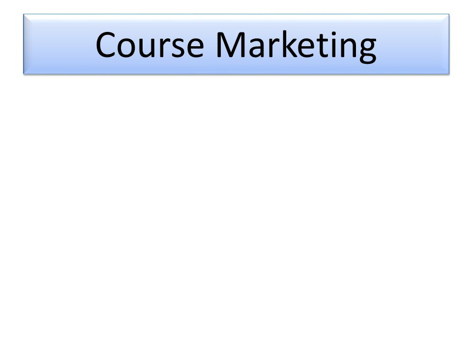 Course Marketing