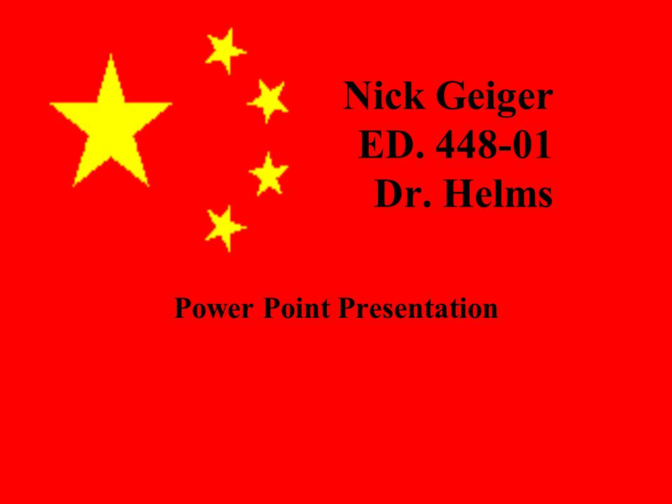 Nick Geiger ED Dr. Helms Power Point Presentation