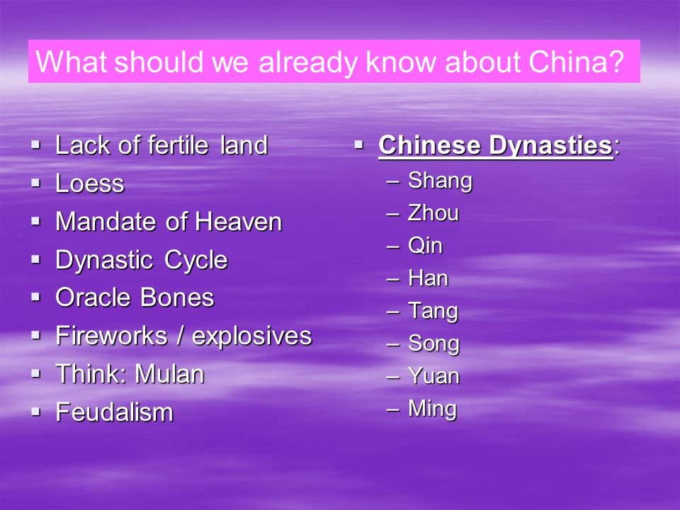 Classical China What should we know about Classical China  Ruled by the Qin & Han Dynasties