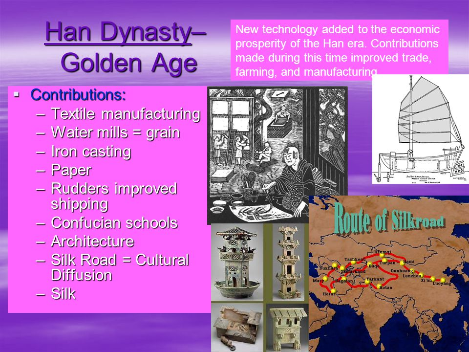 Han Dynasty Important Political Facts:  Han family ruled 202 BC until A.D.