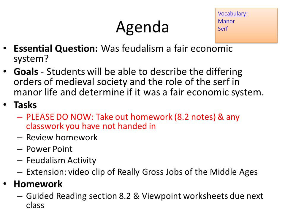 Printable Worksheets feudalism worksheets : Middle Ages Feudalism and the Manor Economy Lesson ppt download