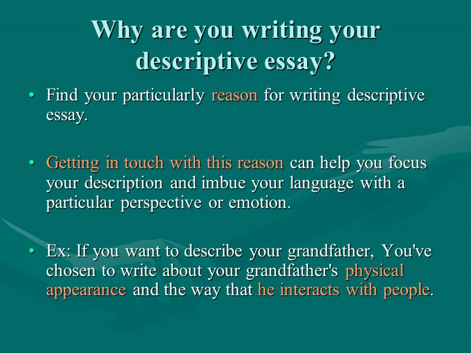 How To Write A Descriptive Essay Ag Balto Source Iveessay  Why Are You Writing Your Descriptive Essay Essays In English also Professional Business Plan Writers Toronto  Argumentative Essay Thesis Statement Examples