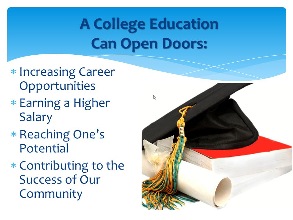 o The Master Plan states that students can complete their first two years of a BA program at a community college.