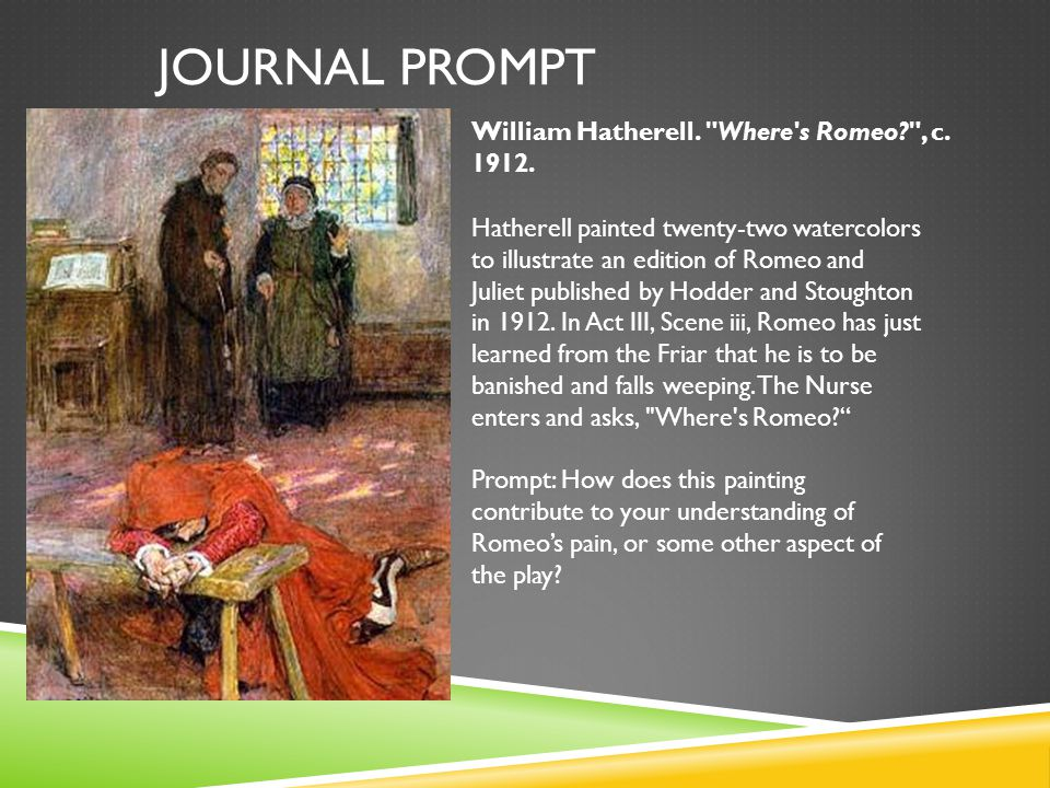 romeo and juliet journal prompts