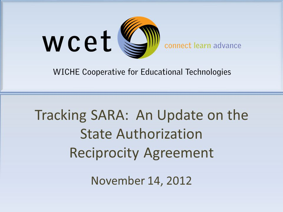 Tracking Sara An Update On The State Authorization Reciprocity
