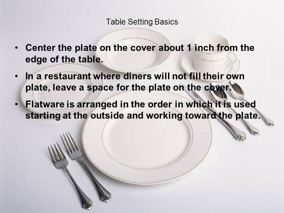 7 Table Setting ...