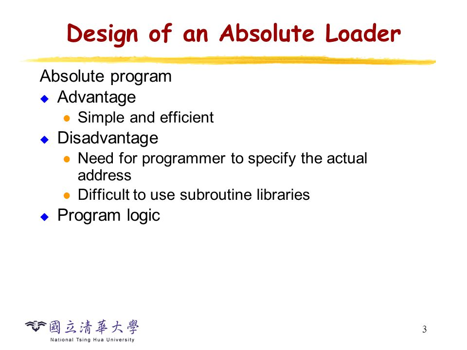Cs2422 Assembly Language And System Programming Loader Department Of Computer Science National Tsing Hua University Ppt Download