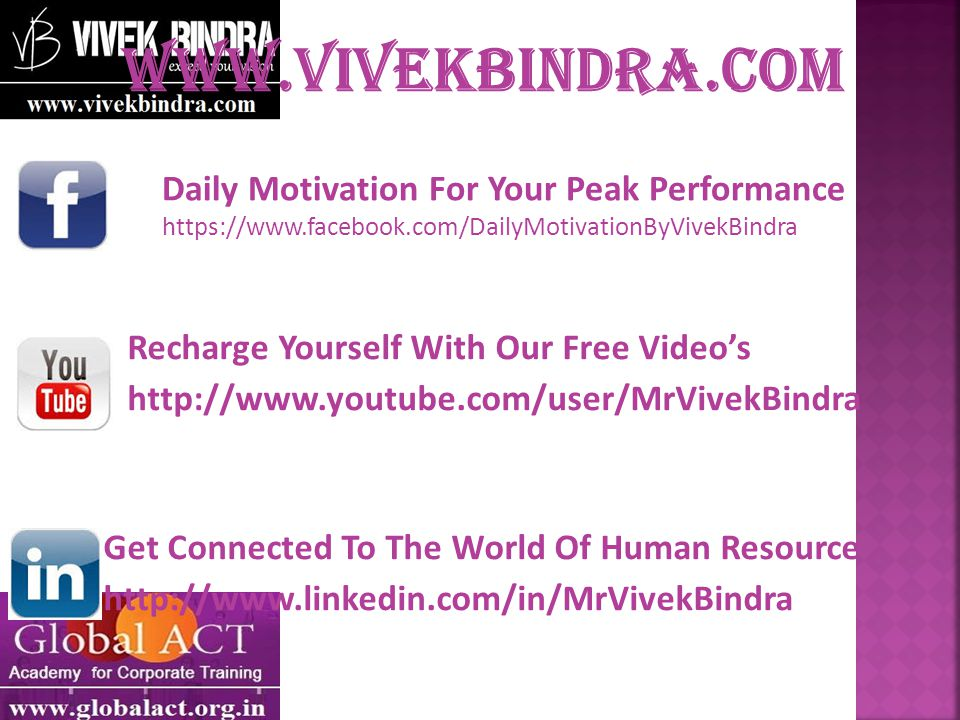 Daily Motivation For Your Peak Performance   Recharge Yourself With Our Free Video's   Get Connected To The World Of Human Resource