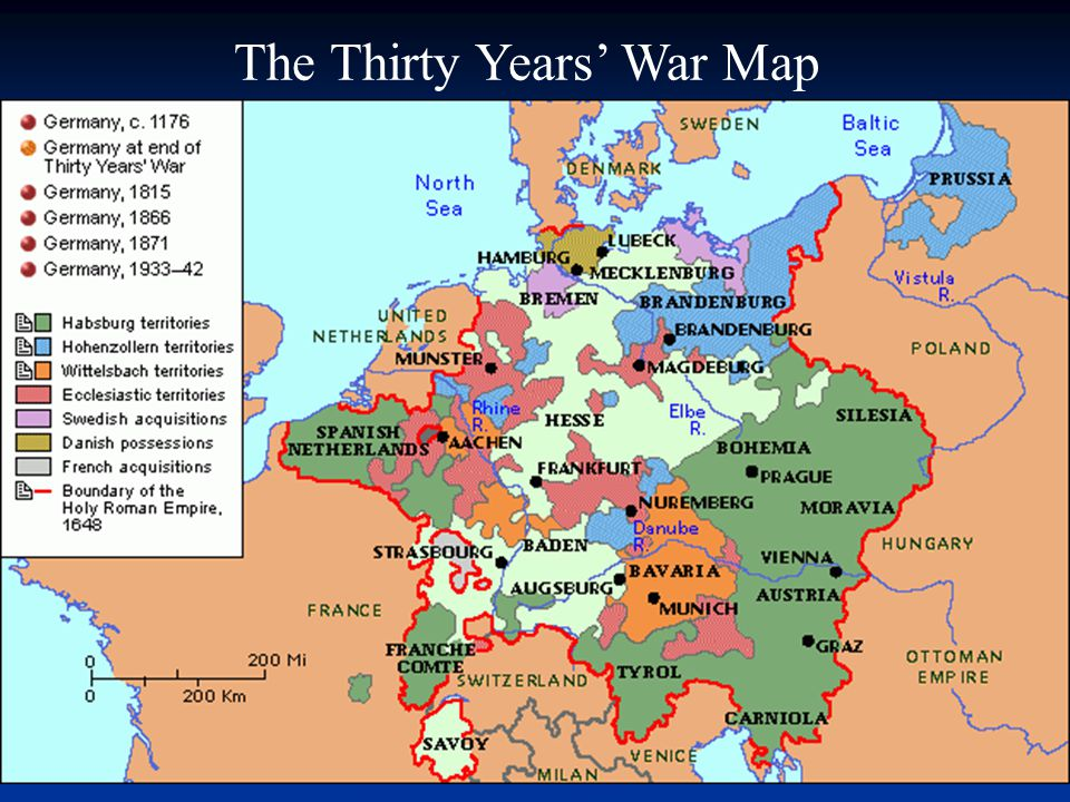 Map Of France 1600.The Age Of Absolutism In Europe The Thirty Years War Map Ppt