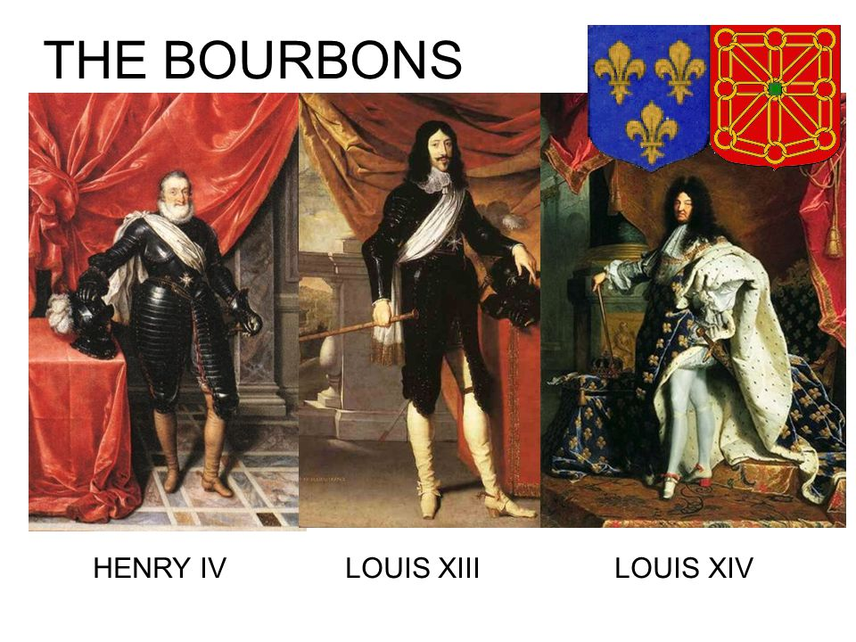 THE BOURBONS HENRY IV LOUIS XIII LOUIS XIV