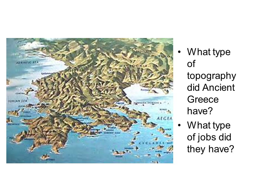 Topographic Map Of Ancient Greece.The Ancient Greeks Chapter 9 1 The Rise Of The Greek Civilization