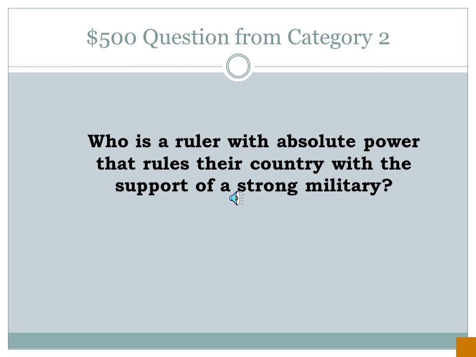 $400 Answer from Category 2 President Harry S. Truman's policy to contain the spread of communism.
