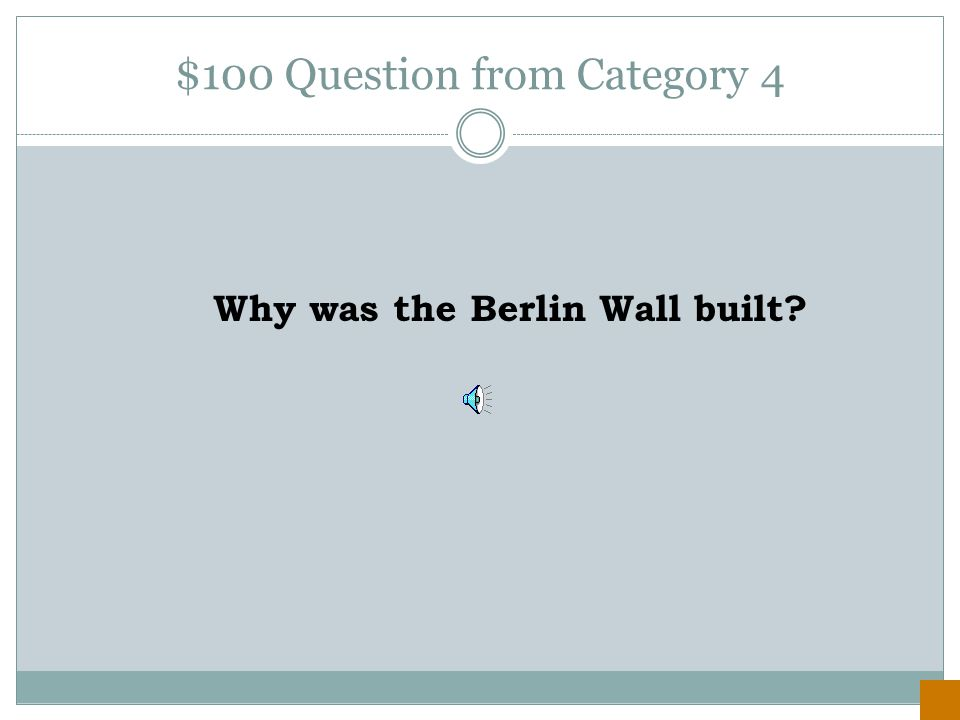 $500 Answer from Category 3 the U.S.