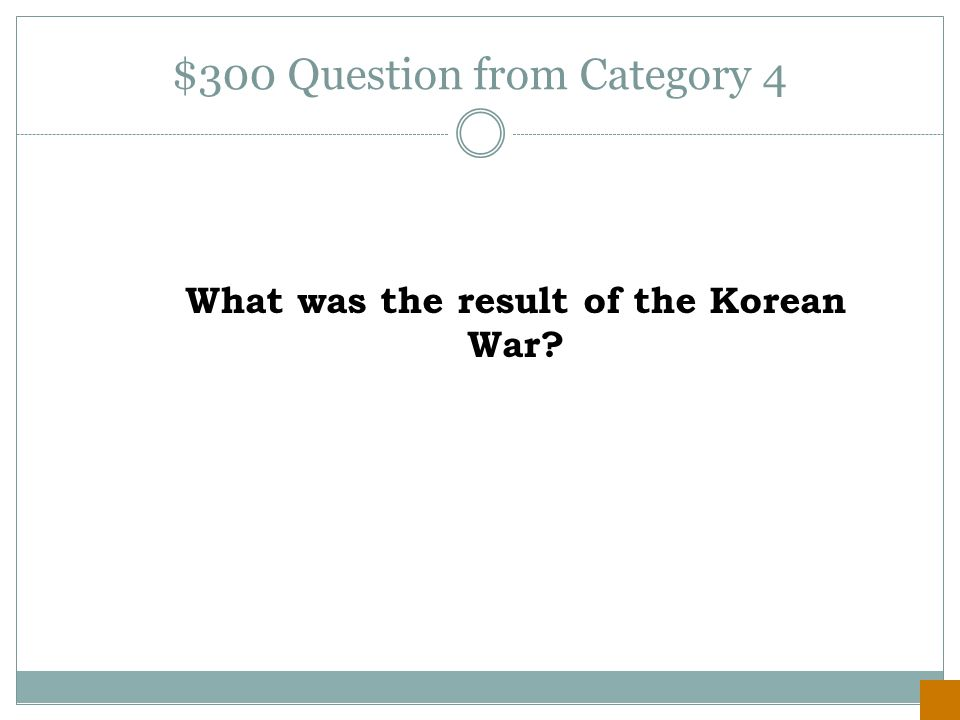 $200 Answer from Category 4 The arms race.