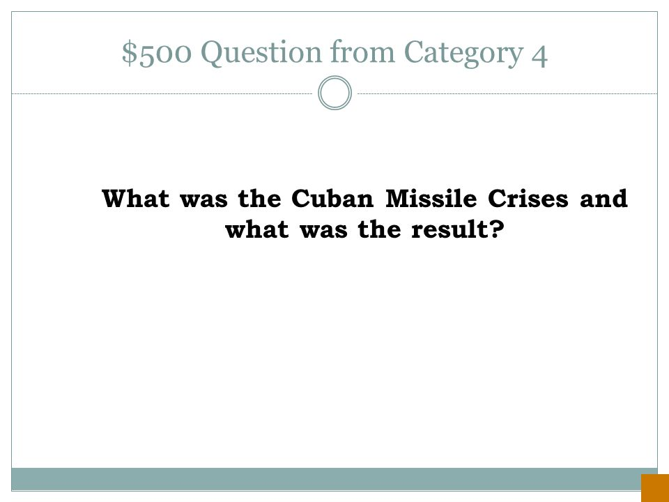 $400 Answer from Category 4 Democracy and Communism