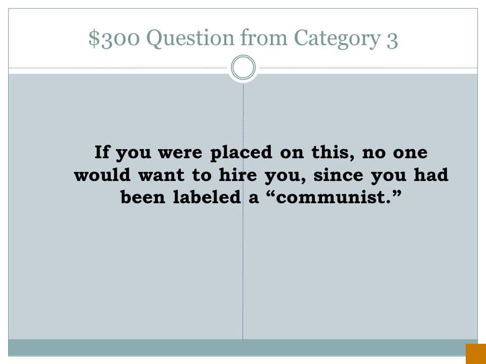 $200 Answer from Category 1 Communism