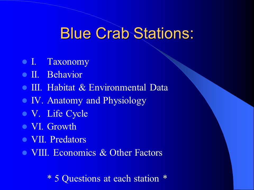 The Blue Crab From Z to A A Problem-solving Study of the Blue Crab ...