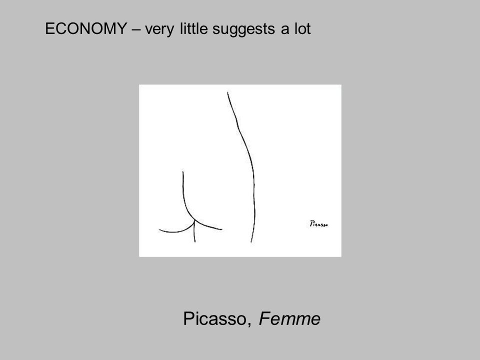 Picasso, Femme ECONOMY – very little suggests a lot