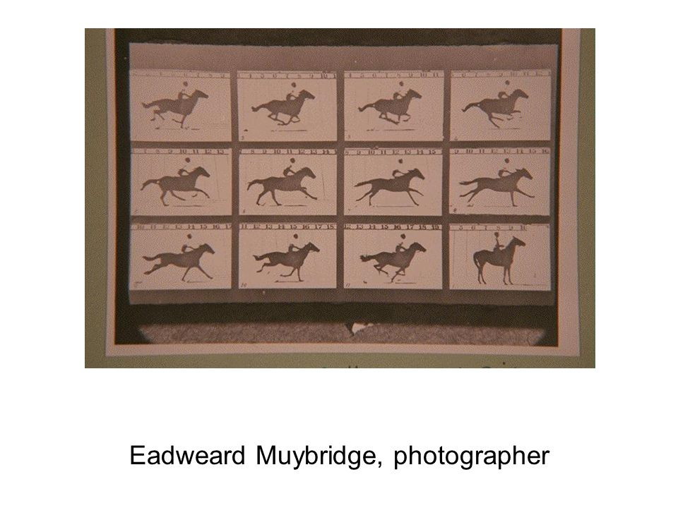 Eadweard Muybridge, photographer