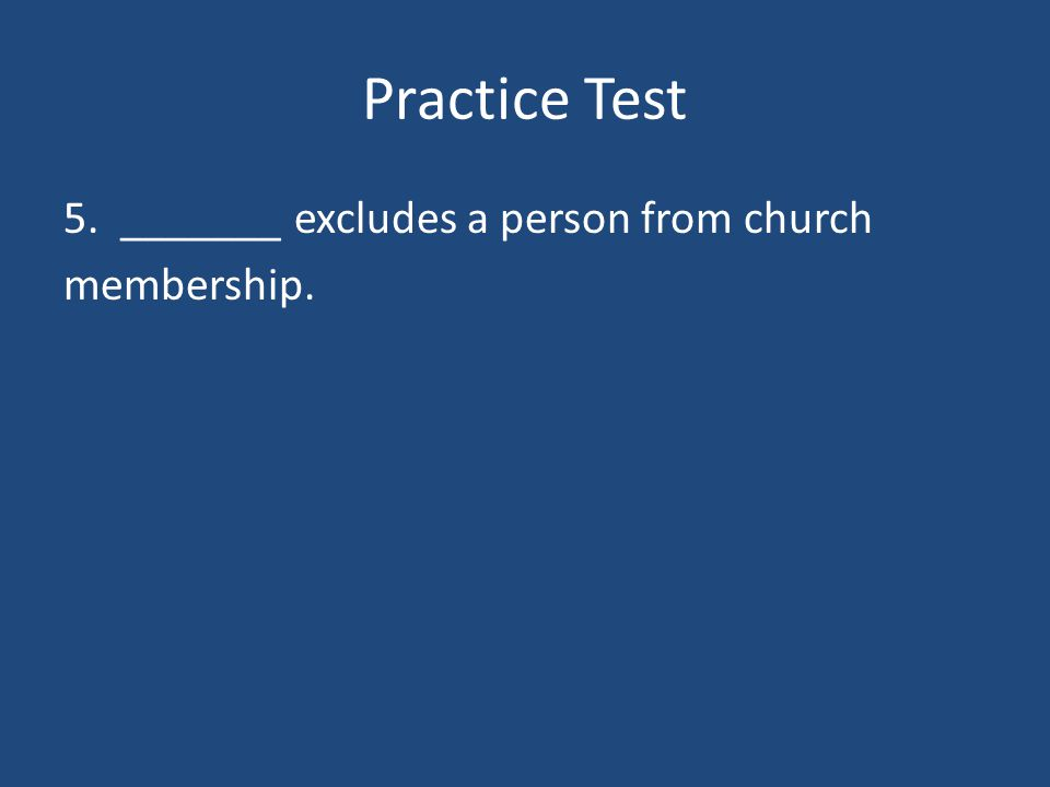 Practice Test 4. Concordat is an agreement between the pope and the ruler of a country.