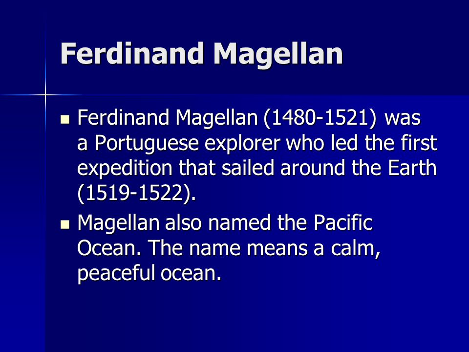 what regions did ferdinand magellan explore